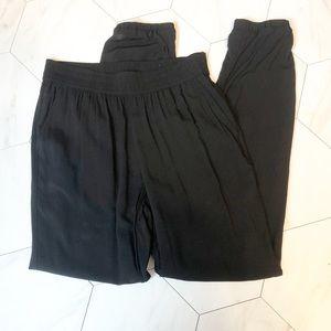 a.n.a Rayon Black Joggers, size XS